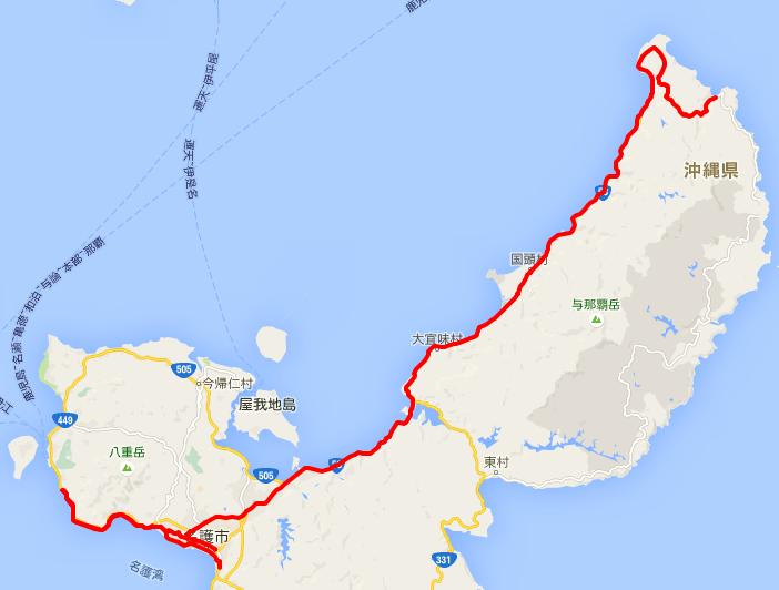 第二天騎車:實際路線