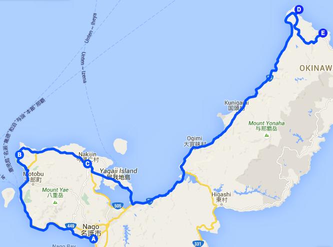 騎車第二天:計劃路線